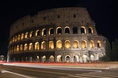 De Nachtmening van Rome Colosseum Royalty-vrije Stock Foto