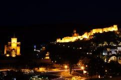 De nachtmening van Tbilisi Royalty-vrije Stock Fotografie