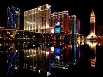 De nachtmeningen van Macao royalty-vrije stock afbeeldingen