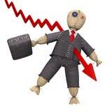De nachtmerrie van Businessmanâs Stock Foto