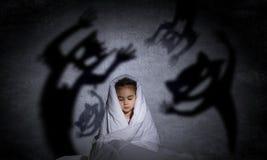 De nachtmerrie van het kind Stock Afbeelding