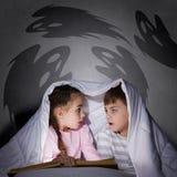 De nachtmerries van kinderen Stock Afbeeldingen