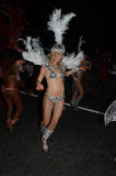 De nachtparade aan Mark The End Of The-Rivier Theems Festiv Stock Foto's