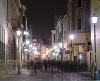 De nachtscène van Boekarest Stock Foto's