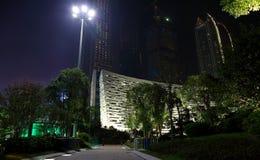 De nachtscène van de Guangzhoustad royalty-vrije stock foto's