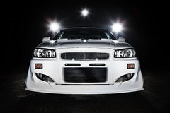 De nachtscène van de raceauto Stock Fotografie