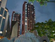 De nachtscène van de Woonplaatsen van de Heuvels van Roppongi (???????????) stock afbeelding