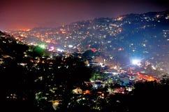 De nachtscène van Kandy in Sri Lanka royalty-vrije stock foto