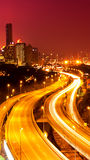 De nachtscène van Kuala Lumpur Stock Foto's