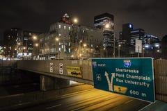 De nachtscène van Montreal Stock Foto's