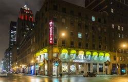 De nachtscène van Montreal Stock Foto