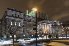 De nachtscène van Montreal Royalty-vrije Stock Foto's