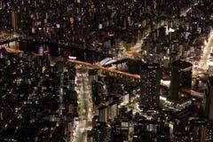De nachtscène van Tokyo stock foto
