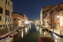 De Nachtscène van Venetië Royalty-vrije Stock Afbeeldingen