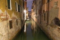 De Nachtscène van Venetië Stock Fotografie
