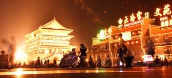 De nachtscène van Xi'an Stock Afbeelding