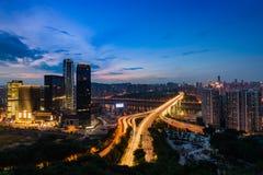 De nachtscènes van Chongqing Royalty-vrije Stock Afbeeldingen
