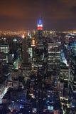 De nachtscènes van de Stad van New York royalty-vrije stock afbeelding