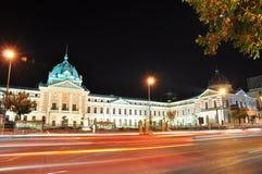 De nachtscène 10 van Boekarest Stock Afbeelding