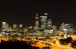 De nachtscène van Perth Royalty-vrije Stock Afbeeldingen