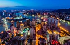 De nachtscènes van Chongqing Stock Foto's