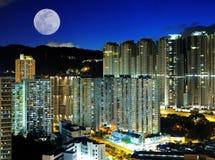De nachtscènes van de stad Royalty-vrije Stock Afbeeldingen