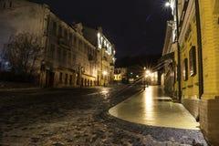 De nachtstad Stock Afbeeldingen