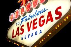 De nachtteken van Vegas stock foto's