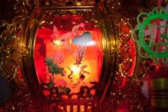 De nachtvakantie van de lantaarn lichte lamp Stock Afbeelding