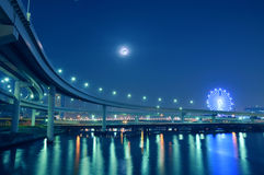 De nachtwegen van Tokyo Royalty-vrije Stock Afbeeldingen