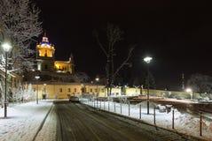De nachtwinter St George Cathedral binnen, de Oekraïne Royalty-vrije Stock Afbeelding