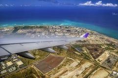 De naderbij komende Luchthaven van Honolulu Royalty-vrije Stock Foto