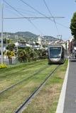 De naderbij komende Tram van Nice Frankrijk Royalty-vrije Stock Fotografie