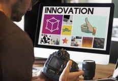 De Nadruk van de mensencamera het Werk Doosconcept Royalty-vrije Stock Afbeeldingen