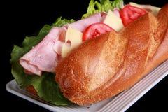 De nadruk van het front op een onderzeese sandwich stock afbeelding