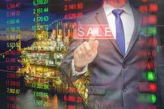 DE-nadruk van olie en gas centraal verwerkingsplatform voor zaken royalty-vrije stock foto