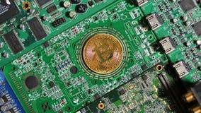 De nadruk wordt Duidelijk en toont Bitcoin-Model stock videobeelden