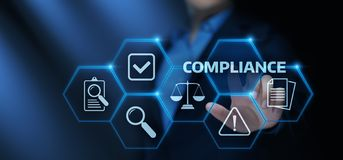 De naleving beslist Wetsverordening Beleids Bedrijfstechnologieconcept vector illustratie