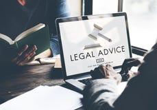 De Nalevingsconcept van advocaatlegal advice law stock afbeelding