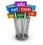 De namen van het domein en Internet concept Stock Foto's
