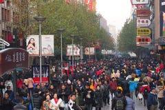 de nanjing weg van Shanghai Royalty-vrije Stock Afbeelding
