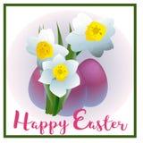 De narcissen van de de lentebloem voor Gelukkige Pasen Stock Foto