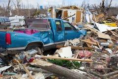 De nasleep van de tornado Stock Foto's