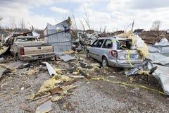 De nasleep van de tornado in Henryville, Indiana Stock Fotografie