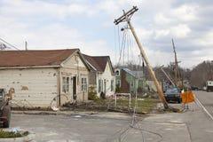 De nasleep van de tornado in Henryville, Indiana Royalty-vrije Stock Afbeeldingen