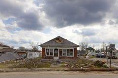De nasleep van de tornado in Henryville, Indiana Stock Afbeeldingen
