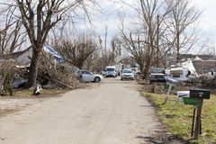 De nasleep van de tornado in Henryville, Indiana Royalty-vrije Stock Foto