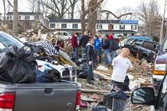 De nasleep van de tornado in Henryville, Indiana Royalty-vrije Stock Fotografie