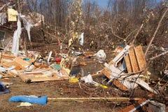 De nasleep van de tornado in Lapeer, MI. Royalty-vrije Stock Afbeelding
