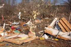 De nasleep van de tornado in Lapeer, MI. Royalty-vrije Stock Fotografie